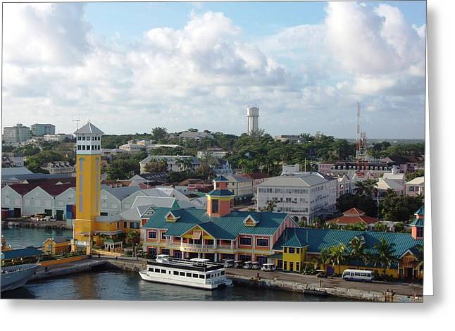Greeting Card featuring the photograph Nassau In The Bahamas by Teresa Schomig