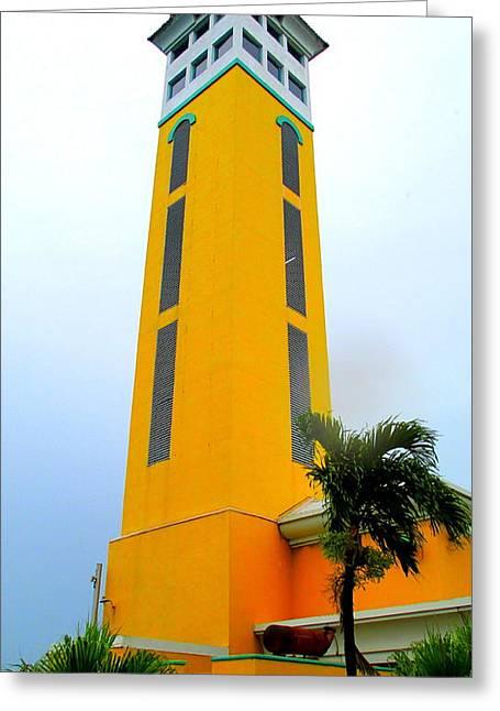 Nassau Port Tower Greeting Card