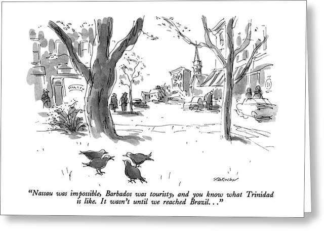 Nassau Was Impossible Greeting Card by James Stevenson