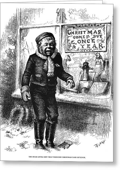 Nast Christmas, 1881 Greeting Card by Granger