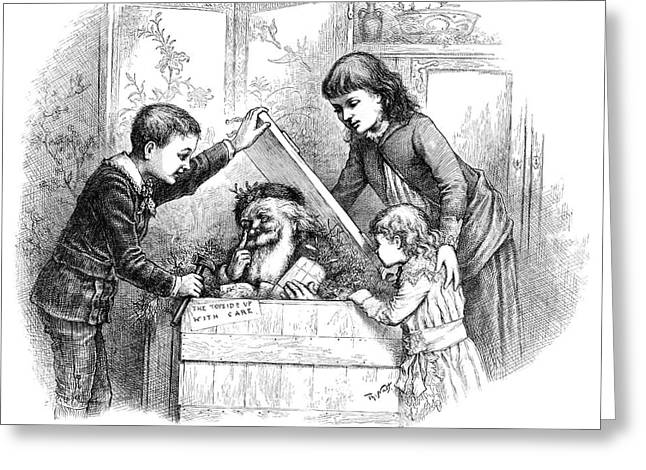 Nast Christmas, 1885 Greeting Card by Granger
