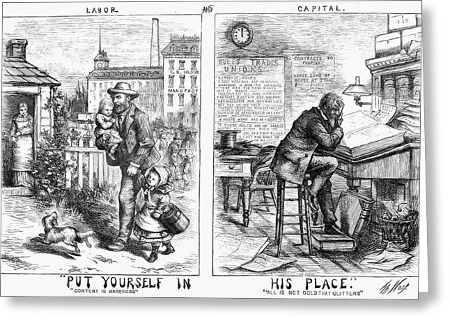 Nast Labor & Capital, 1871 Greeting Card by Granger