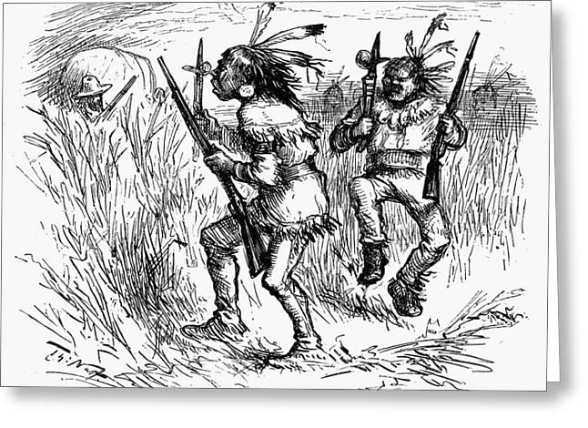 Nast Native Americans, 1881 Greeting Card by Granger