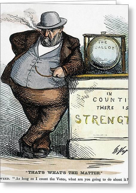 Nast Tweed Corruption Greeting Card by Granger