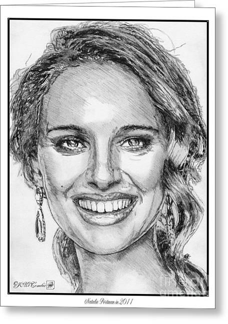 Natalie Portman In 2011 Greeting Card by J McCombie