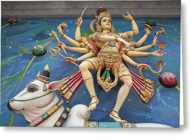 Nataraj Dancing Shiva Statue Greeting Card by Jit Lim