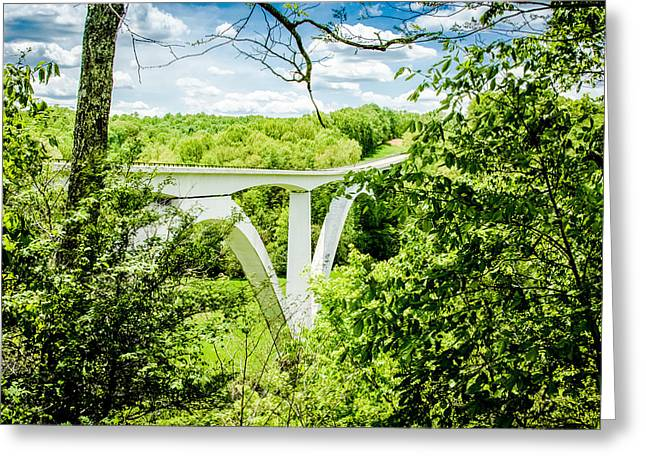 Natchez Trace Bridge Greeting Card by Geoff Mckay