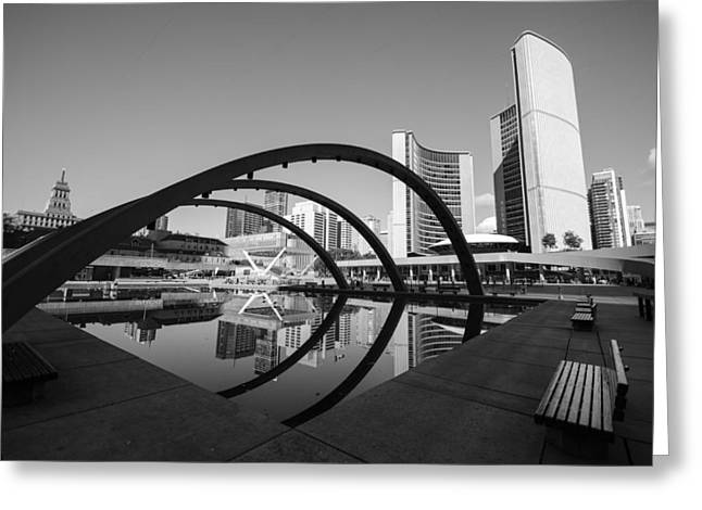 Nathan Phillips Square Greeting Card by Eric Dewar