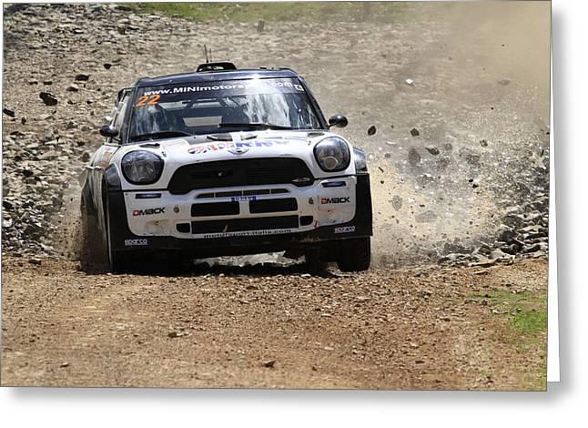 Nathan Quinn Fia World Rally Championship Australia 2013 Greeting Card