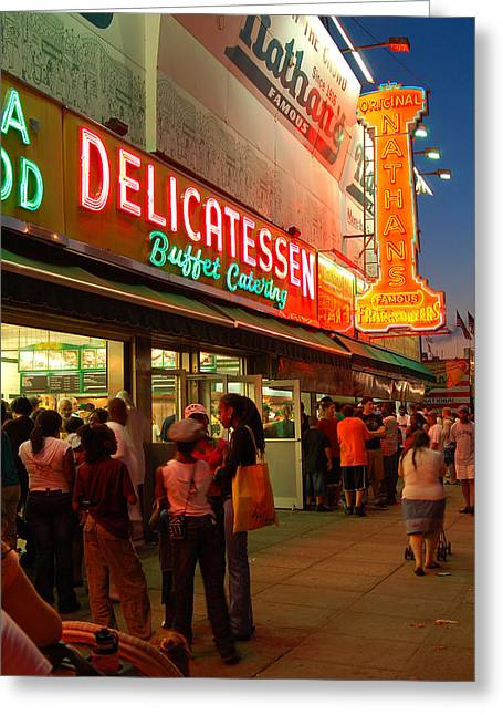 Nathans Coney Island Greeting Card