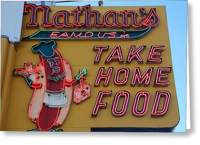 Nathan's Famous Greeting Card