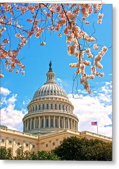 National Capital Building Greeting Card by Regina  Williams