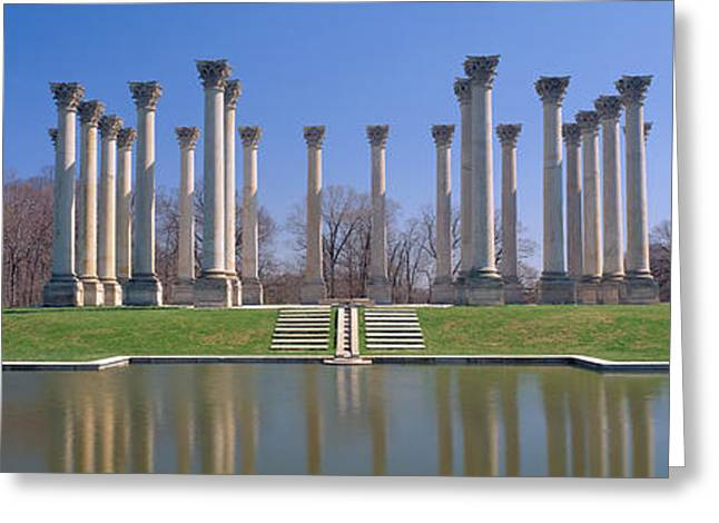 United States Capitol Greeting Cards - National Capitol Columns, National Greeting Card by Panoramic Images