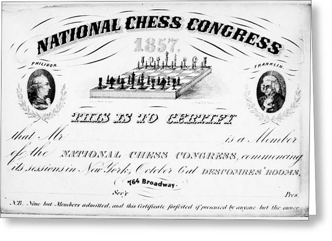 National Chess Congress Greeting Card