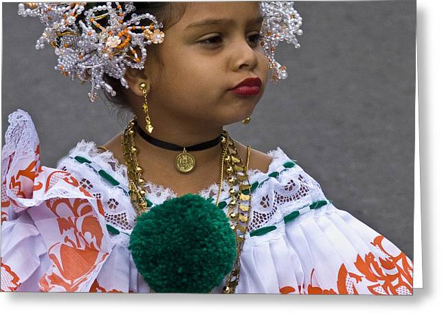 National Costume Of Panama Greeting Card by Heiko Koehrer-Wagner