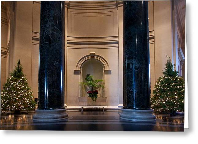National Gallery Of Art Christmas Greeting Card by Stuart Litoff