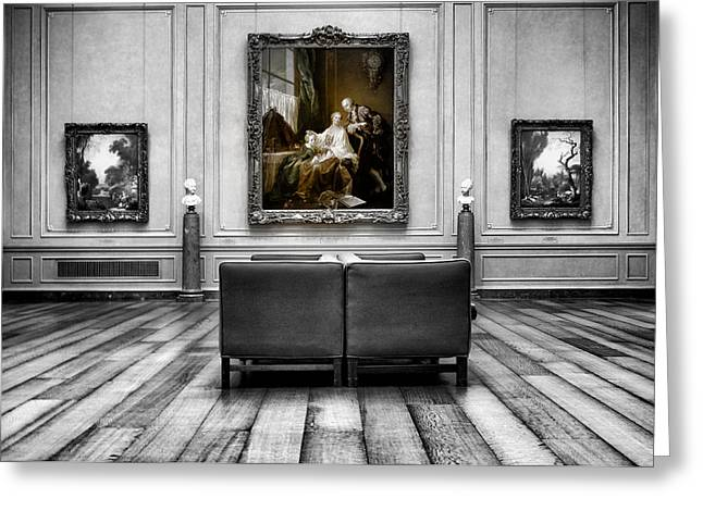National Gallery Of Art Interiour 1 Greeting Card by Frank Verreyken