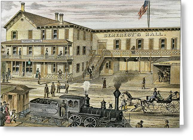 National Hotel  Warwick, 1875 New York Greeting Card