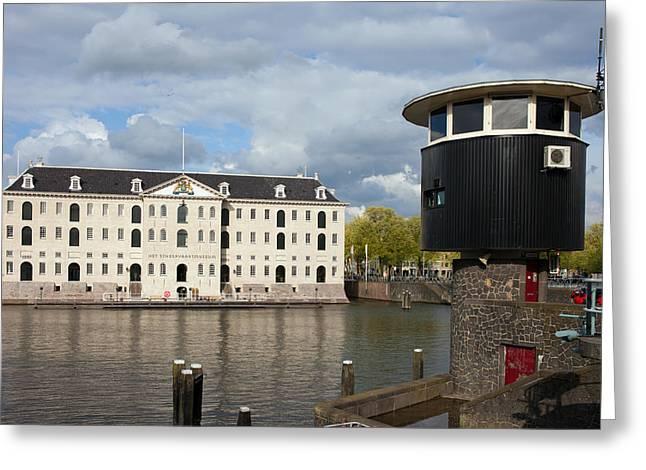 National Maritime Museum In Amsterdam Greeting Card by Artur Bogacki