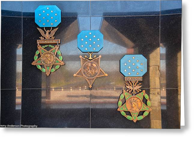 National Medal Of Honor Memorial Greeting Card by Tommy Anderson