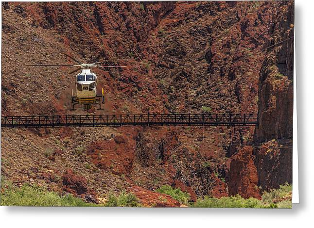 National Park Helicopter Greeting Card