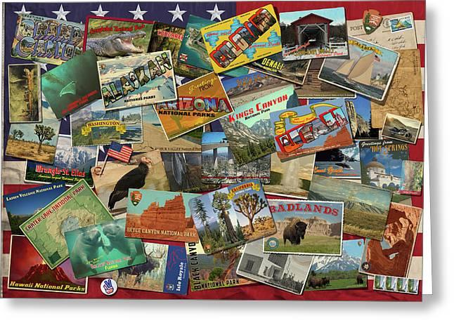 National Parks Flag Greeting Card