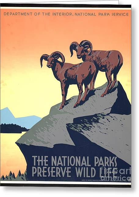 National Parks Poster 1939 Greeting Card