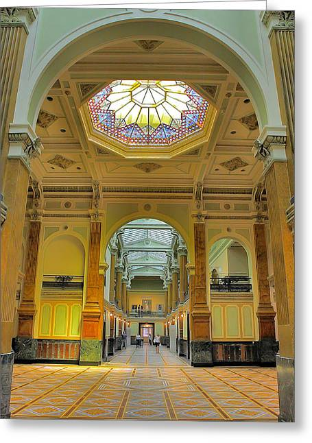 National Portrait Gallery I Greeting Card by Steven Ainsworth