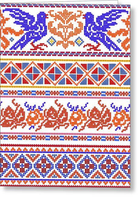 National Russian Patterns Greeting Card by Aleksandr Volkov