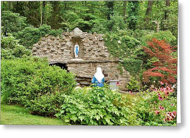 National Shrine Grotto Of Our Lady Of Lourdes Greeting Card