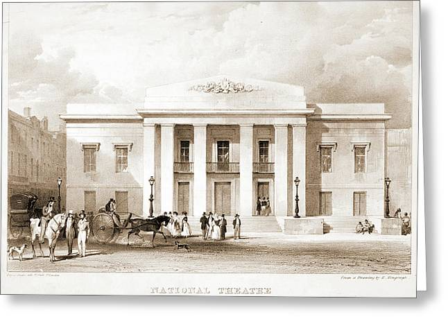 National Theatre, New York. J.w. Wallack Greeting Card
