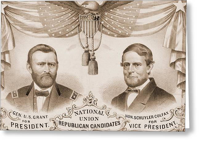 National Union Republican Candidates  Lith. Of Kellogg & Greeting Card by Litz Collection