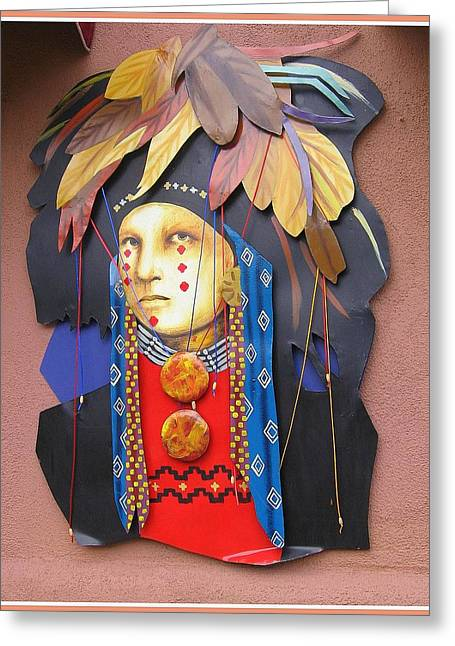 Native American Artwork Greeting Card by Dora Sofia Caputo Photographic Art and Design