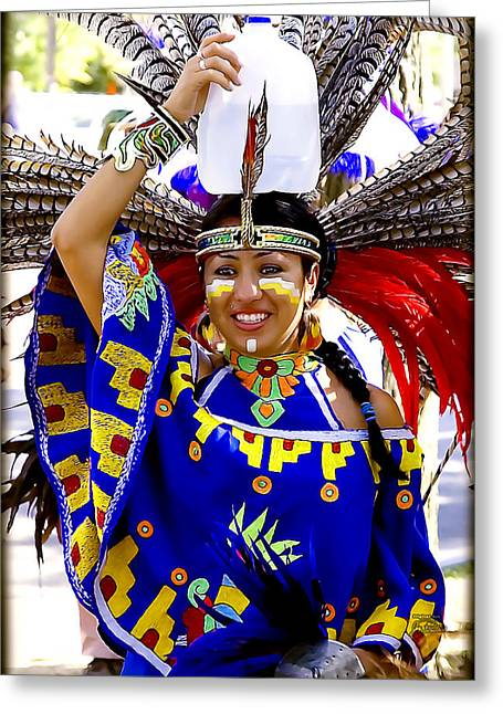 Native American Beauty Greeting Card