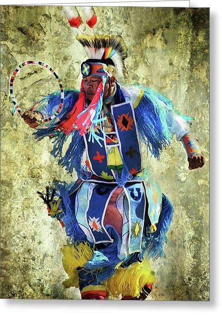 Native American Dancer Greeting Card by Barbara Manis