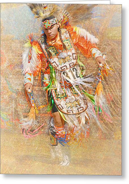 Native American Dancer Greeting Card by Dyle   Warren