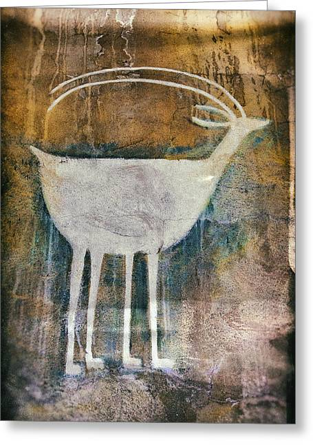 Native American Deer Pictograph Greeting Card