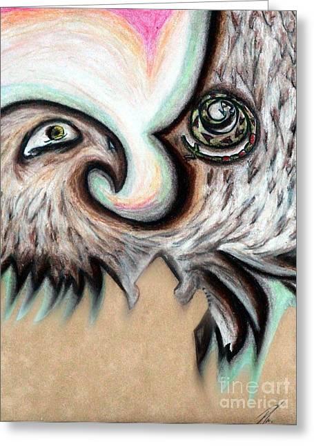 Native American Eye Of The Eagle 1 Greeting Card