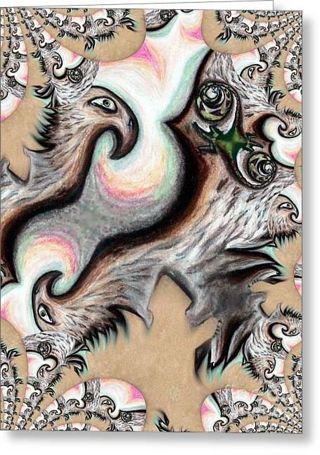 Native American Eye Of The Eagle 2 Greeting Card