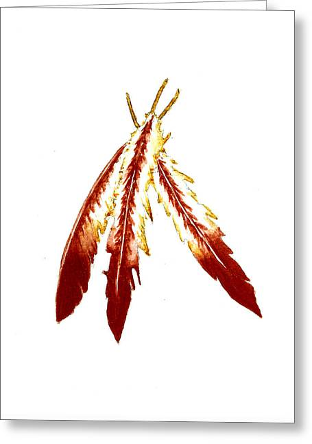 Native American Feathers  Greeting Card