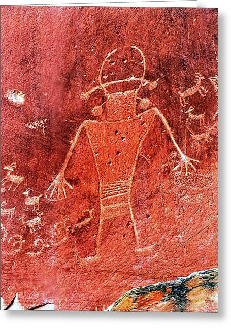 Native American Fremont Petroglyphs Greeting Card