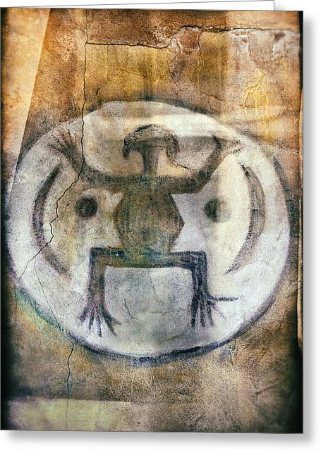 Native American Frog Pictograph Greeting Card