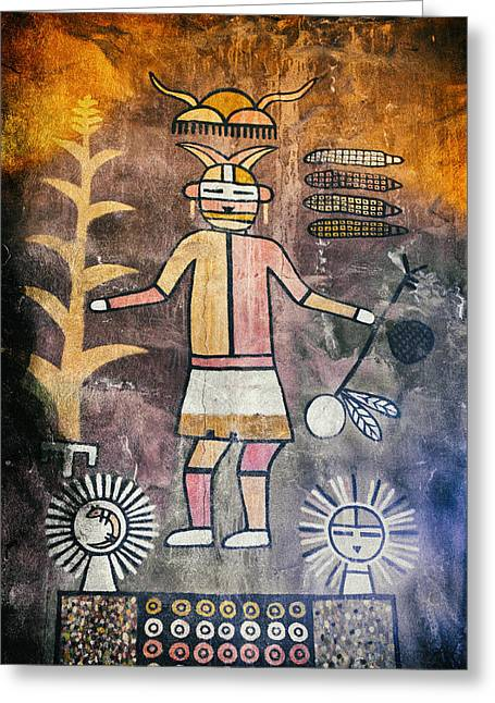 Native American Harvest Pictograph Greeting Card
