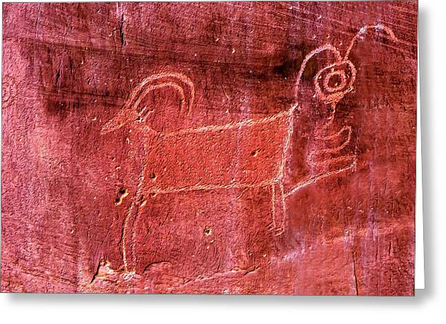Native American Indian Fremont Sheep Greeting Card