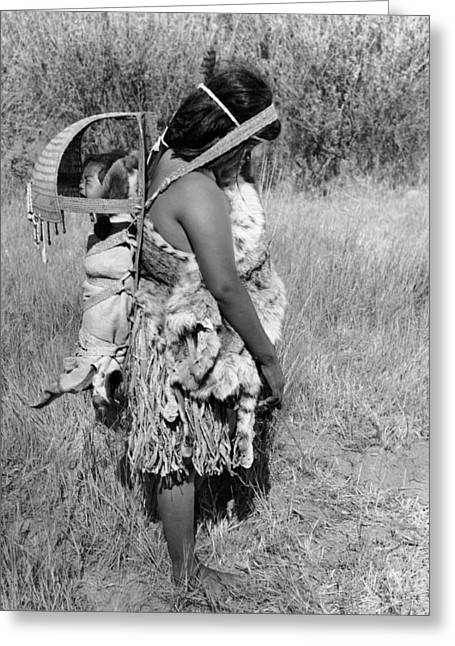 Native American Mother And Baby Greeting Card