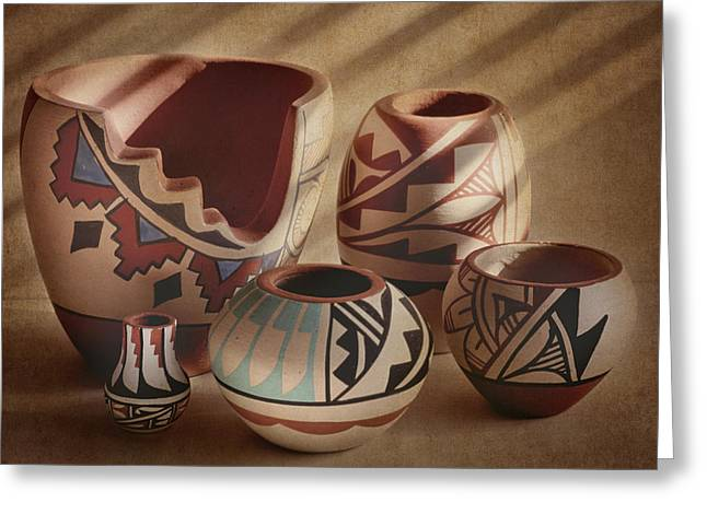 Native American Pottery Greeting Card
