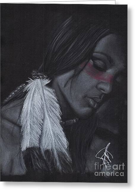 Native American Greeting Card by Rosalinda Markle