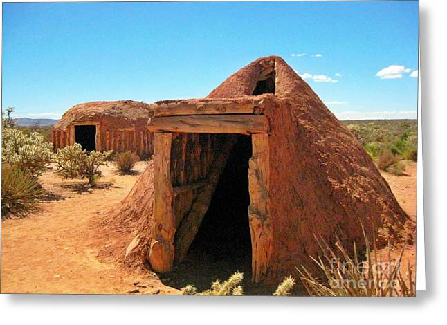 Native American Shelters Greeting Card by John Malone
