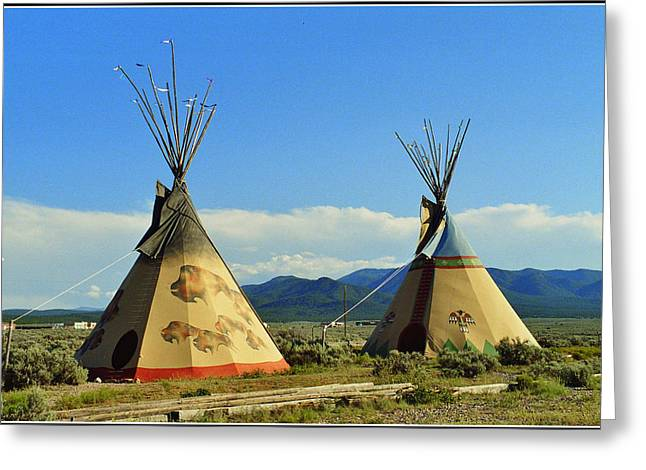 Native American Teepees  Greeting Card