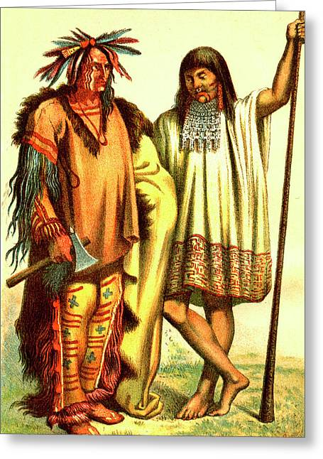 Native Americans Greeting Card by Collection Abecasis